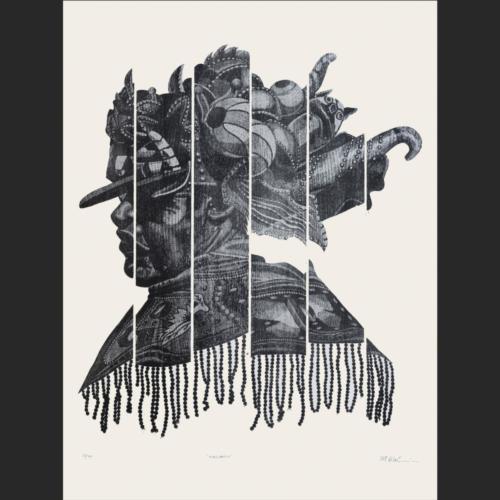 Máscara - 84 x 74 - 102 x 76 cm