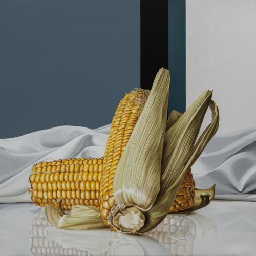 07 - Two corncobs - 100 x 100 cm